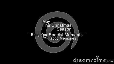 Χαρούμενα Χριστούγεννα που χαιρετά το βίντεο ελεύθερη απεικόνιση δικαιώματος
