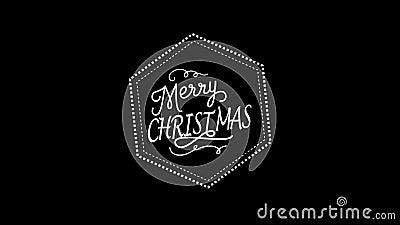 Χαρούμενα Χριστούγεννα που χαιρετά το βίντεο απεικόνιση αποθεμάτων