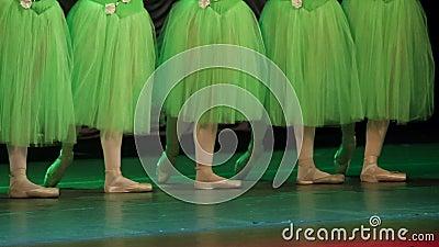 Χορευτής ` s μπαλέτου απόθεμα βίντεο