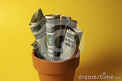 χρήματα σε δοχείο