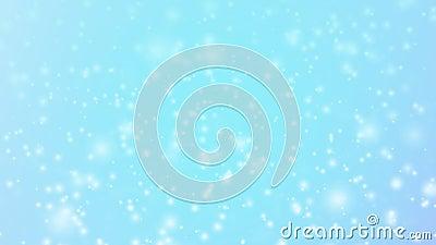 Χριστούγεννα μαγικά, το λευκό ακτινοβολεί λαμπρά μόρια στο μπλε υπόβαθρο, άνευ ραφής ζωτικότητα βρόχων απόθεμα βίντεο