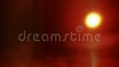 Χρονικό σφάλμα του misty άνευ ραφής βρόχου ηλιοβασιλέματος φιλμ μικρού μήκους