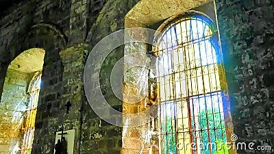 Χρονικό σφάλμα παραθύρων εκκλησιών απόθεμα βίντεο