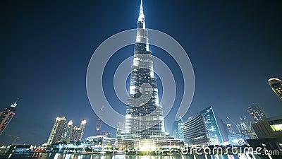 Χρονικό σφάλμα περιοχής τουριστών παγκόσμιας υψηλότερο οικοδόμησης 4k από το Ντουμπάι φιλμ μικρού μήκους