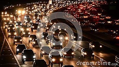 Χρονικό σφάλμα της κυκλοφορίας ώρας κυκλοφοριακής αιχμής βραδιού στο Λος Άντζελες