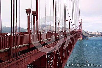 χρυσή έκταση πυλών γεφυρών