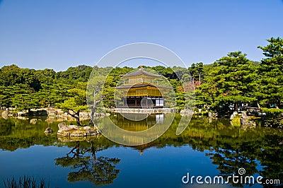 χρυσός ναός περίπτερων kinkaku ji