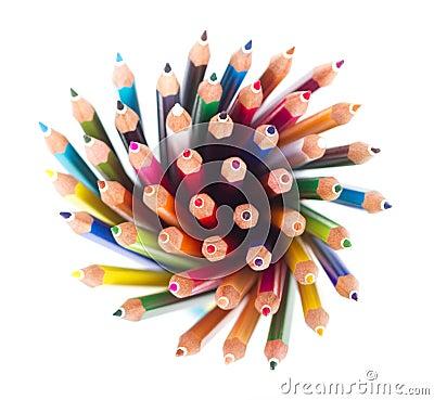 χρωματισμένα μολύβια
