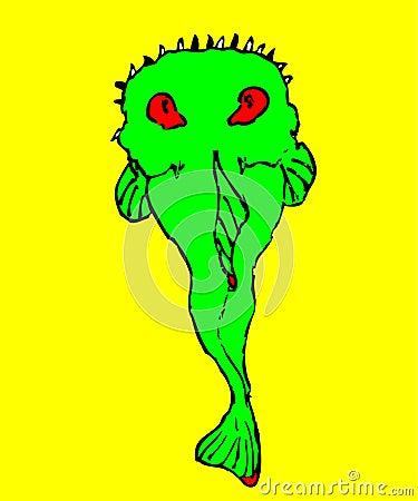 ψάρια πράσινα