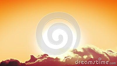 Όμορφος μεγάλος ήλιος και πετώντας σύννεφα Χρονικό σφάλμα Περιτυλιγμένη ζωτικότητα HD 1080 απόθεμα βίντεο