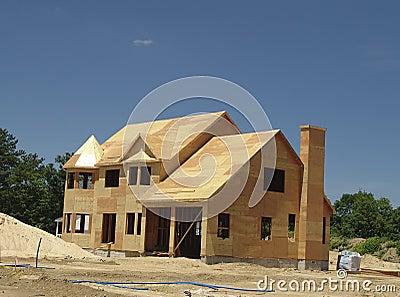 όντας χτισμένο σπίτι νέο