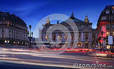 Όπερα του παρισιού (το palais garnier), γαλλία