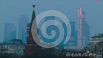 όψη της Μόσχας απόθεμα βίντεο