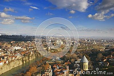 όψη του Tbilisi πόλεων