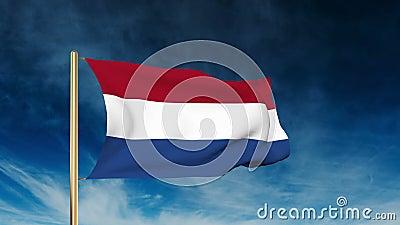 Ύφος ολισθαινόντων ρυθμιστών ολλανδικών σημαιών κυματίζοντας αέρας