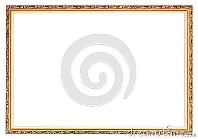 狭窄被雕刻的古老金木画框图片
