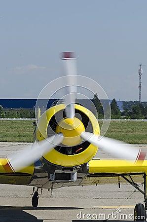 小型飞机推进器 库存照片