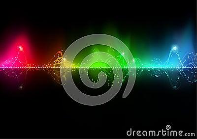 абстрактная волна нот