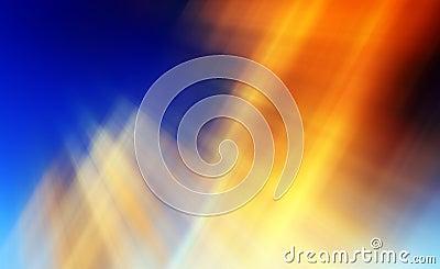 Абстрактная предпосылка в апельсине, сини и желтом цвете