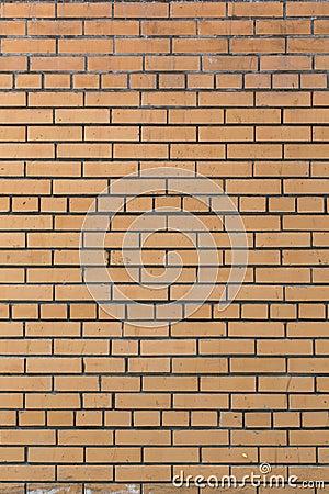 Абстрактная предпосылка желтой кирпичной кладки. Кирпичная стена.