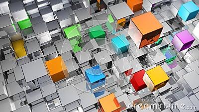 Абстрактная предпосылка от металлических кубов