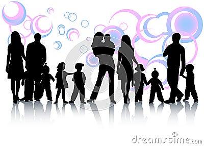 абстрактная семья