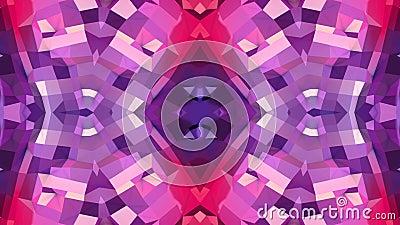 Абстрактные развевая полигональные красные фиолетовые решетка 3D или сетка пульсируя геометрических объектов Польза как абстрактн сток-видео