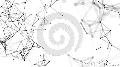 Абстрактный красивый геометрический фон Абстрактное футуристическое, многоугольное пространство с темным фоном Фантазия плекса иллюстрация штока