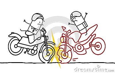 Авария мотоцикла