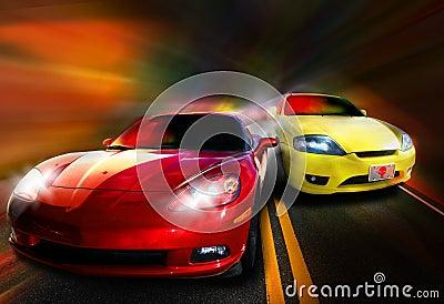 автомобильная гонка