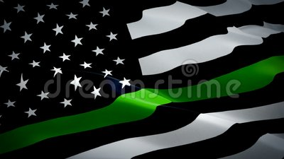 Агенты пограничного патруля, отреагирующие на сигнал 'Волна флага', размахиваются ветром Реалистичный флаг Anley Fly Breeze Green бесплатная иллюстрация
