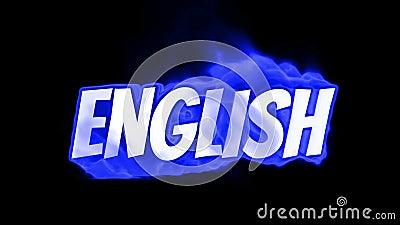 английско Текст на огне слово в огне интенсивная турбулентность Текст в пламенах Слово огня иллюстрация штока