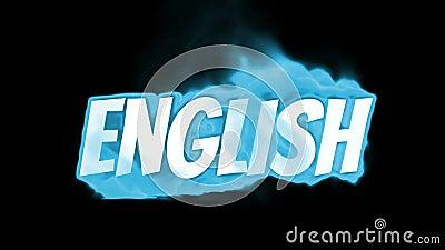 английско Текст на огне слово в огне интенсивная турбулентность Текст в пламенах Слово огня иллюстрация вектора