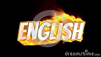английско Текст на огне слово в огне интенсивная турбулентность Текст в пламенах Слово огня бесплатная иллюстрация