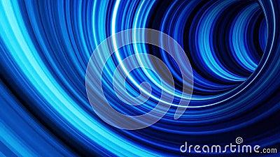 Анимация тоннеля Абстрактная предпосылка голубого движения светлых диапазонов в трехмерной анимации тоннеля футуристическо иллюстрация вектора