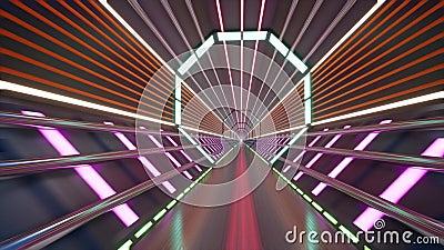 Анимация туннеля Cyberspace бесплатная иллюстрация