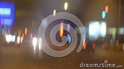 Аноморфные красочные светильники города видеоматериал