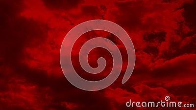 Апоралипсическое красное небо с солнцем за облаками видеоматериал