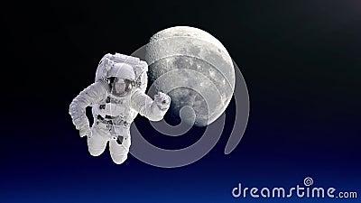 Астронавт помещенный на международной космической станции идет на выход в открытый космос видеоматериал