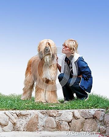 афганская женщина собаки