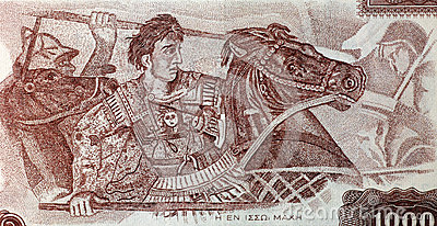 Александр Македонский в сражении Редакционное Изображение