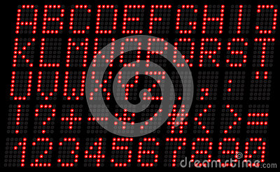 Алфавит, uppercase красный цвет