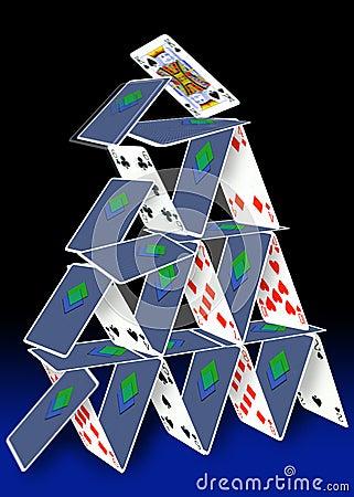 башня карточки