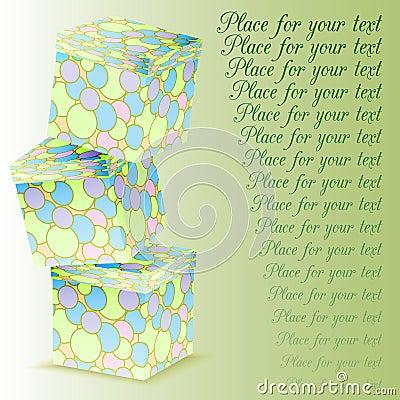 Башня коробок подарка