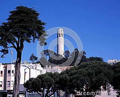 Башня Coit, Сан-Франциско, США.