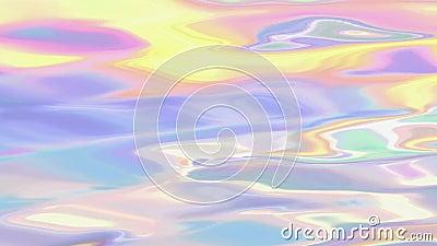 Безшовная голографическая жидкостная анимация предпосылки иллюстрация вектора