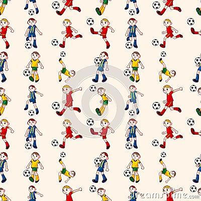 Безшовная картина футболиста