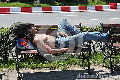 Бездомные как Редакционное Фотография