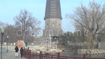 Белая пагода в liaoyang акции видеоматериалы
