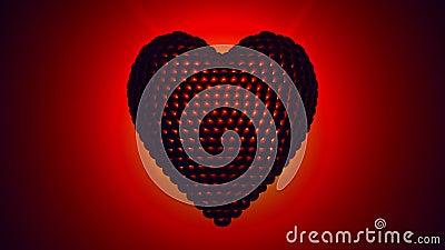 Бить вращая сердце - 4K ультра HD иллюстрация вектора